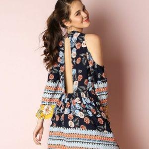 Dresses & Skirts - COLD SHOULDER FLORAL PRINT DRESS